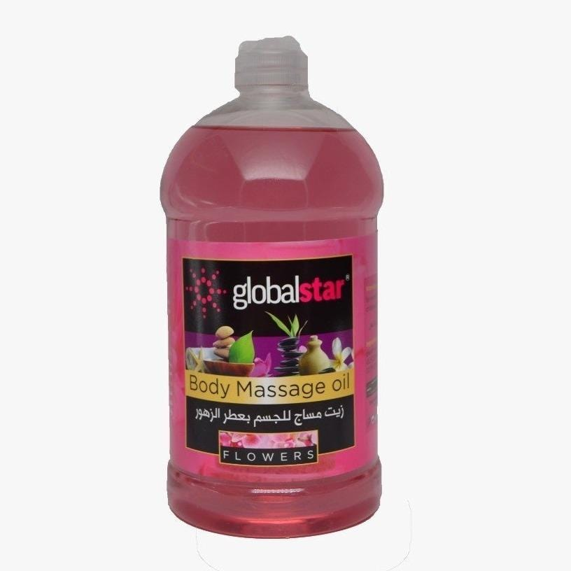 Globalstar Body Massage Oil Flowers Scent 500ml