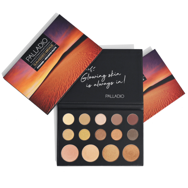 Sun-Kissed Mirage Eyeshadow + Highlighter Palette - Palladio