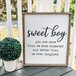 Sweet Boy Nursery Sign
