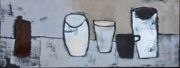 Three White Cups by Marie Boyle
