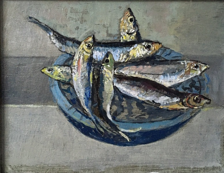 Bowl of Fish, by Muriel Mallows