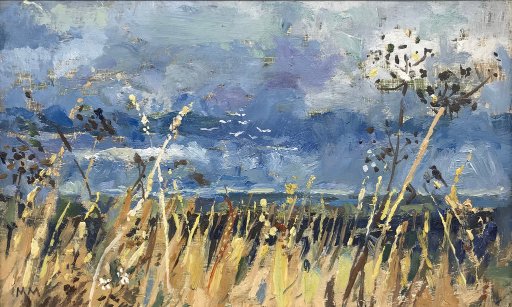 View with Seedheads by Muriel Mallows