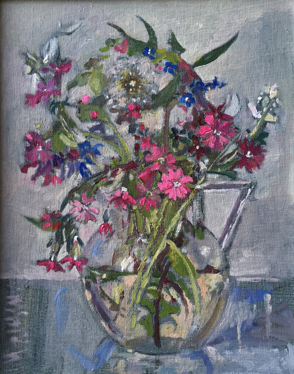 Wild Flowers in Glass Jug by Muriel Mallows