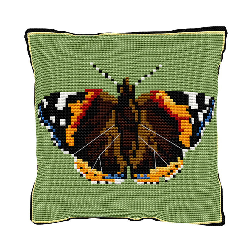 Red Admiral Cushion Tapestry Kit
