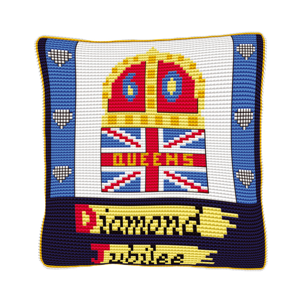 Official Diamond Jubilee Cushion Tapestry Kit