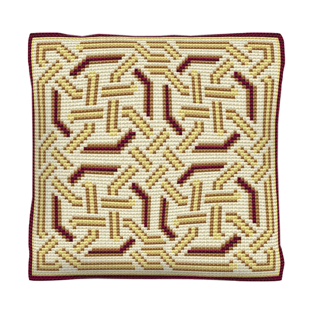Gold Celtic Cushion Tapestry Kit