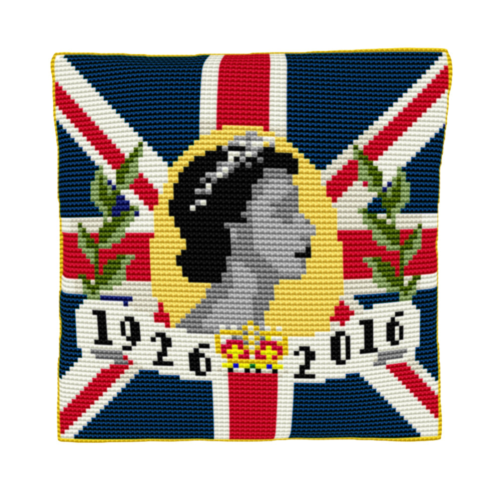 The Queen's 90th Birthday Cushion Tapestry Kit