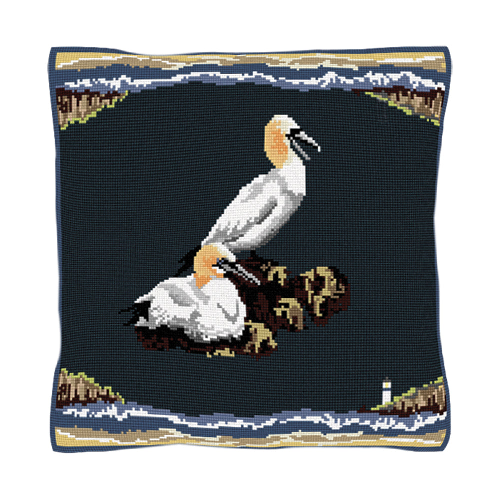 Gannets Cushion Tapestry Kit