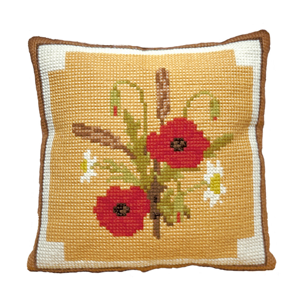 Poppies Cushion Tapestry Kit