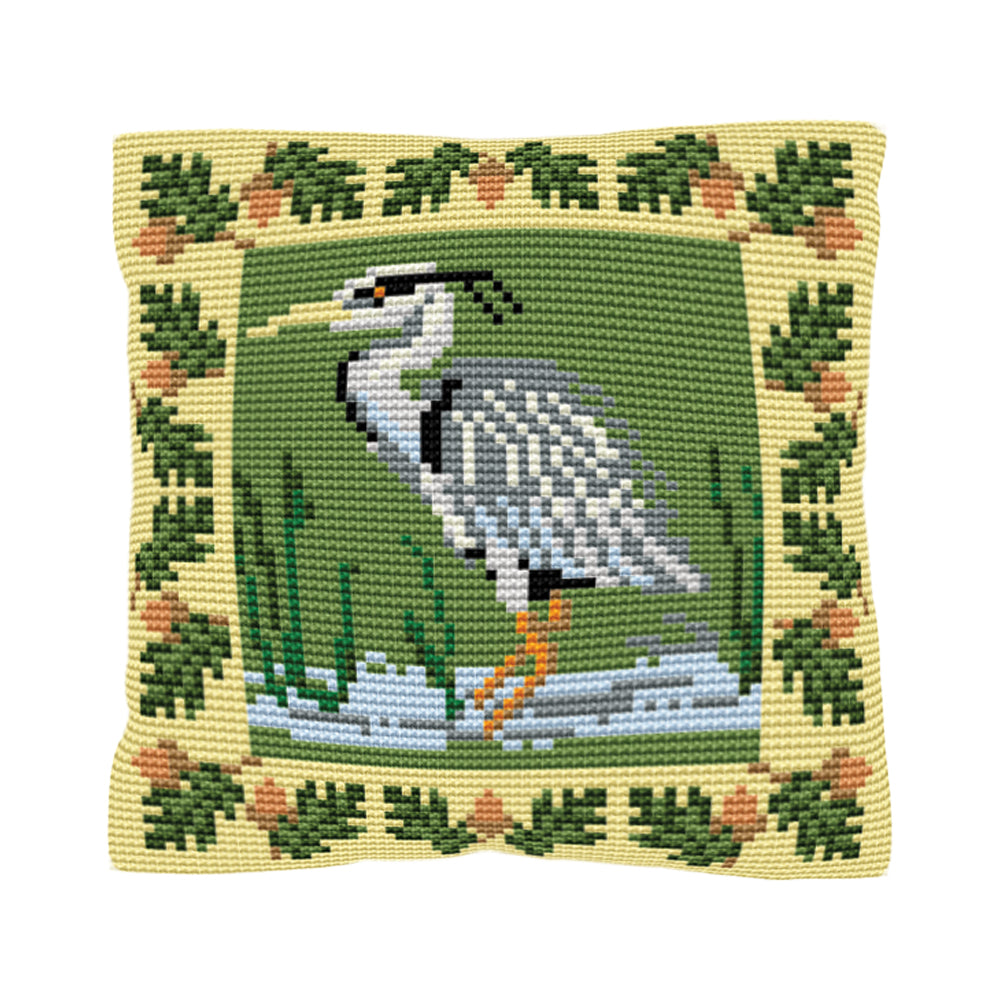 Heron Cushion Tapestry Kit