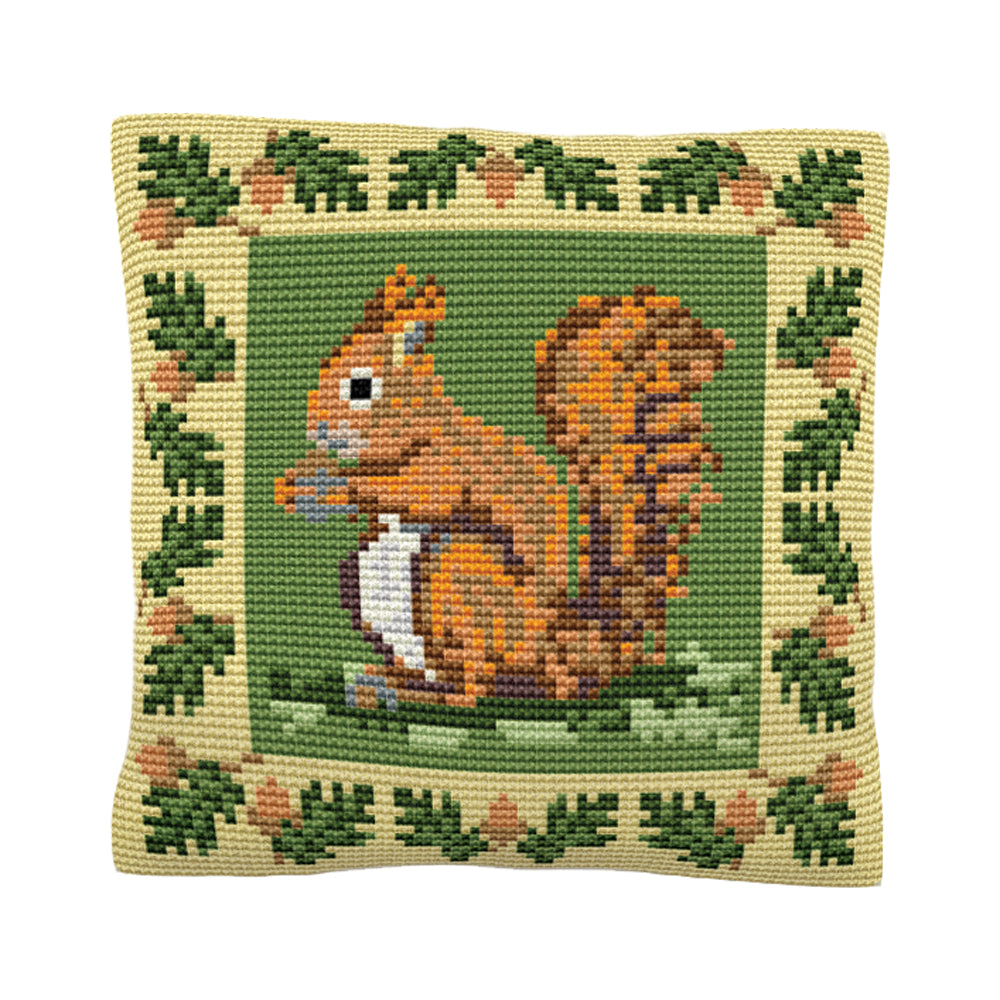 Red Squirrel Cushion Tapestry Kit