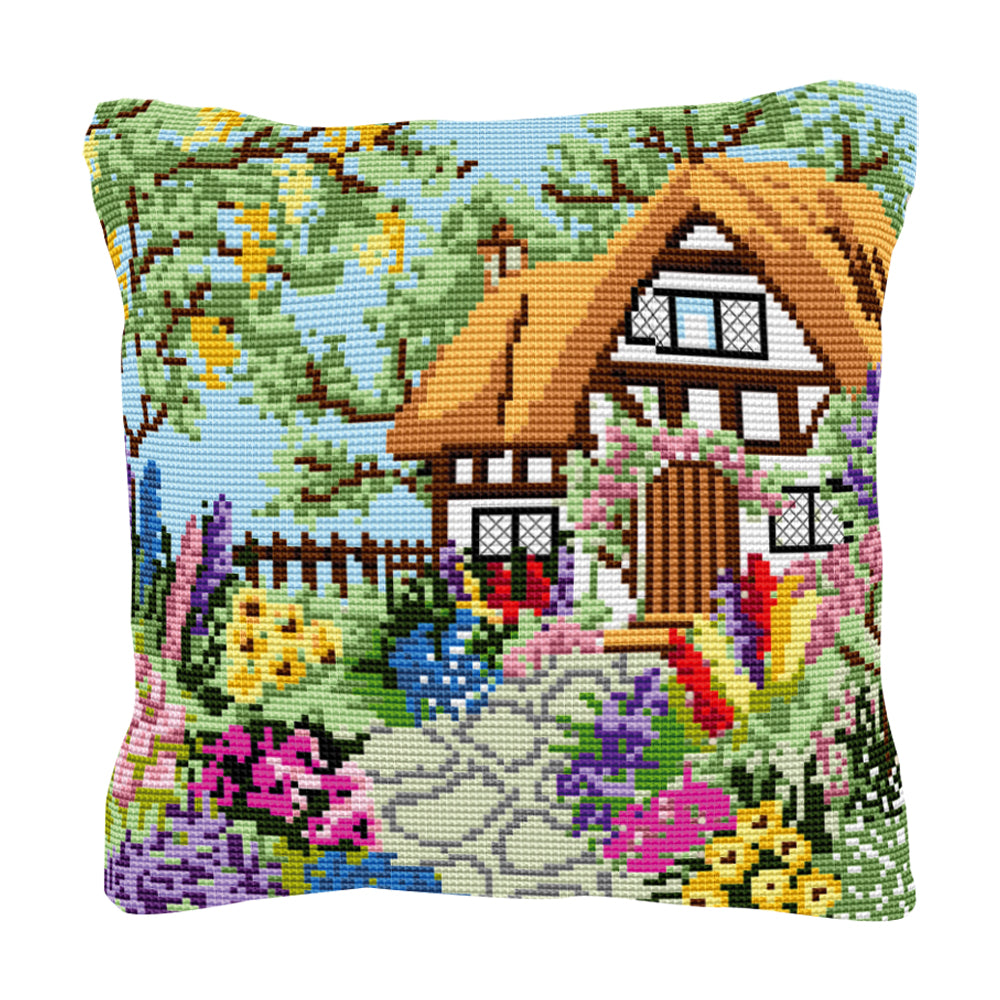 Summer Cottage Cushion Tapestry Kit