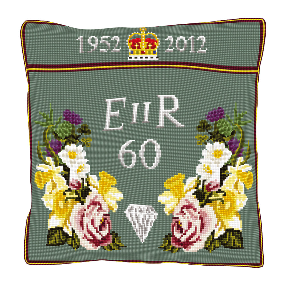 Diamond Jubilee Cushion Tapestry Kit