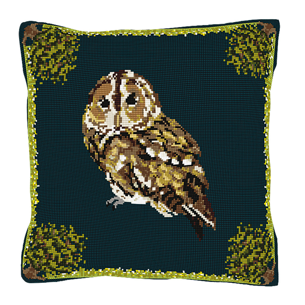 Tawny Owl Cushion Tapestry Kit