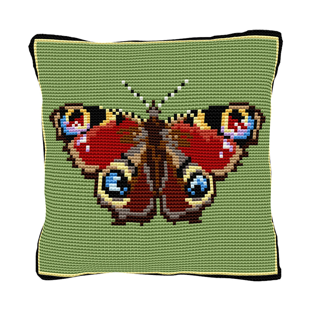 Peacock Butterfly Cushion Tapestry Kit
