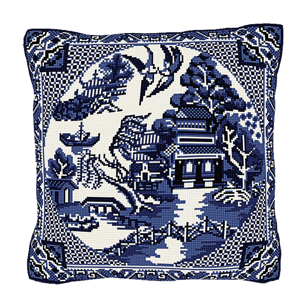 Willow Pattern Cushion Tapestry Kit