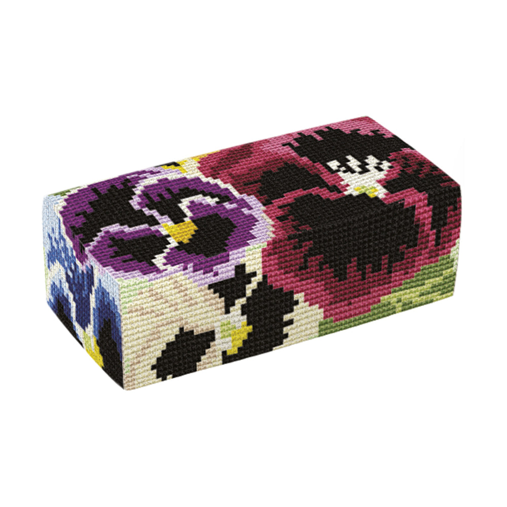 Pansies Door Stop Tapestry Kit