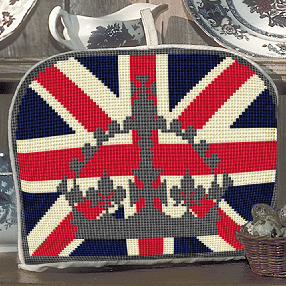 Silver Crown Tea Cosy Tapestry Kit