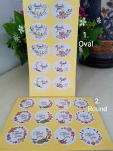 Load image into Gallery viewer, 60 Pieces Floral Thank You Stickers (Oval/Round)
