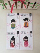 Load image into Gallery viewer, Kokeshi Doll Memo Pads, Japanese Doll Sticky Notes