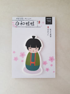 Kokeshi Doll Memo Pads, Japanese Doll Sticky Notes