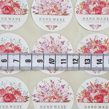 Load image into Gallery viewer, 45 Pieces Round Flower Bouquet Handmade Just For You Sticker