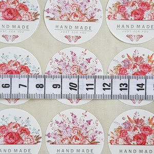 45 Pieces Round Flower Bouquet Handmade Just For You Sticker