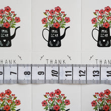 Load image into Gallery viewer, 30 Pieces Flower Jar Thank You Stickers