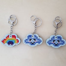 Load image into Gallery viewer, Rainbow Cloud Keychain