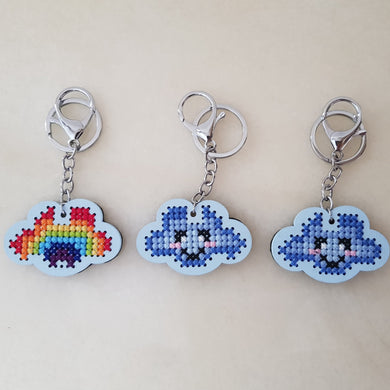 Rainbow Cloud Keychain