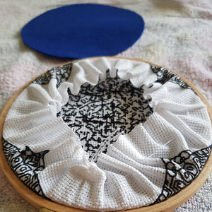 "5"" Geometric Blackwork Embroidery Hoop Art Wall Deco (3)"