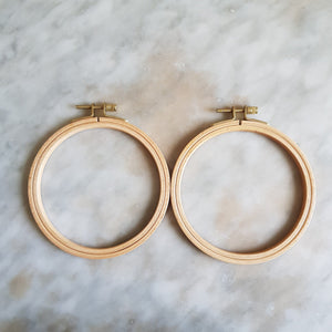 5 inch wooden embroidery hoop 2x