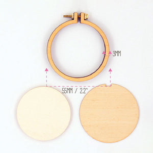 Dandelyne Mini Embroidery Hoop Necklace Set