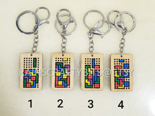 Load image into Gallery viewer, Handmade Brickgame Cross Stitch Keychain