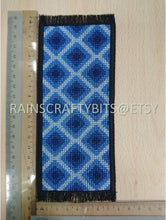 Load image into Gallery viewer, Geometric Cross Stitch Bookmark, Completed Cross Stitch, Finished Bookmark
