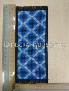 Geometric Cross Stitch Bookmark, Completed Cross Stitch, Finished Bookmark