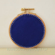 "Load image into Gallery viewer, 4"" Geometric Cross Stitch Hoop Art Wall Deco"