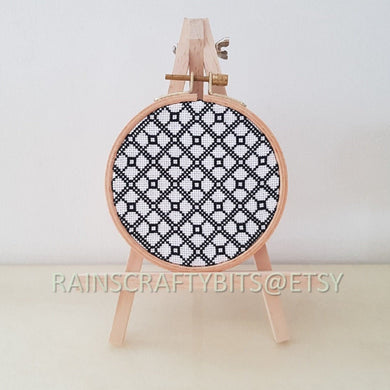 Geometric Cross Stitch Hoop Art