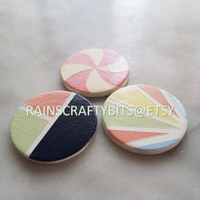 Load image into Gallery viewer, Handmade OOAK Painted Round Wooden Refrigerator Magnet