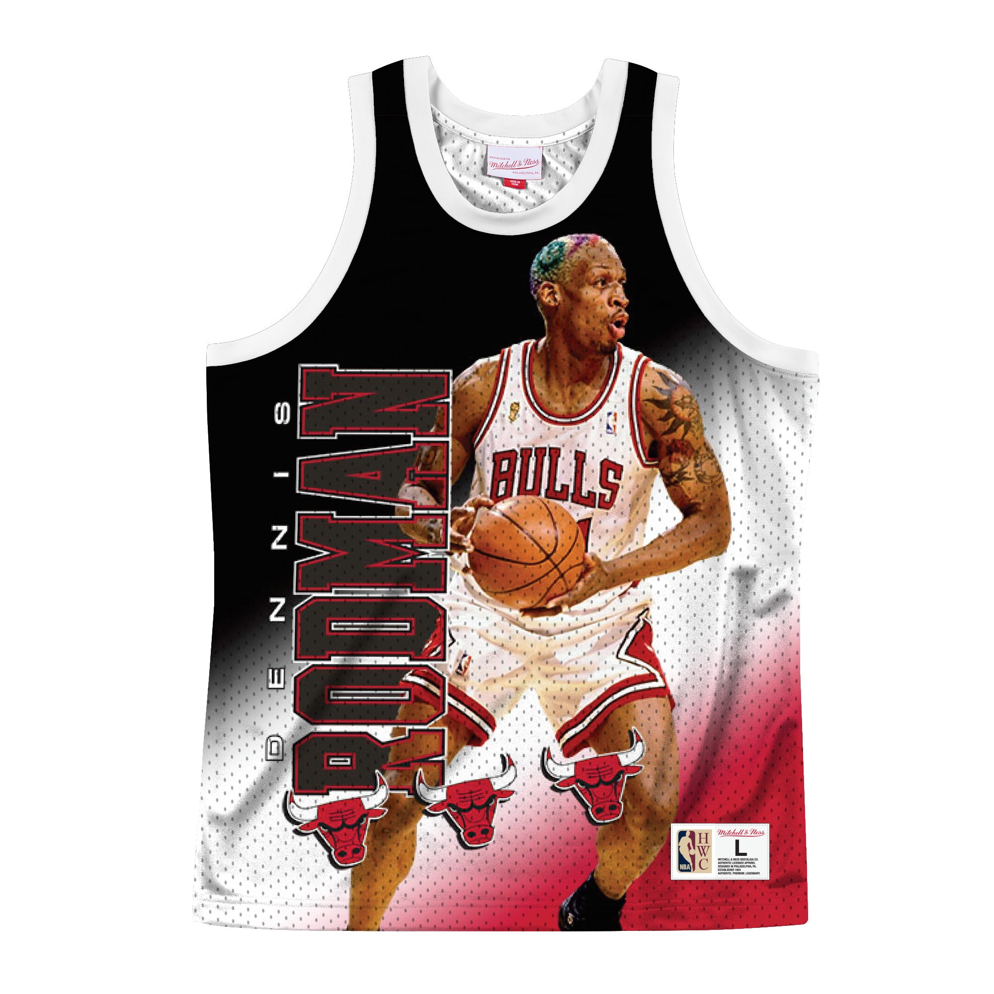 BULLS BEHIND THE BACK - Black - Mitchell & Ness