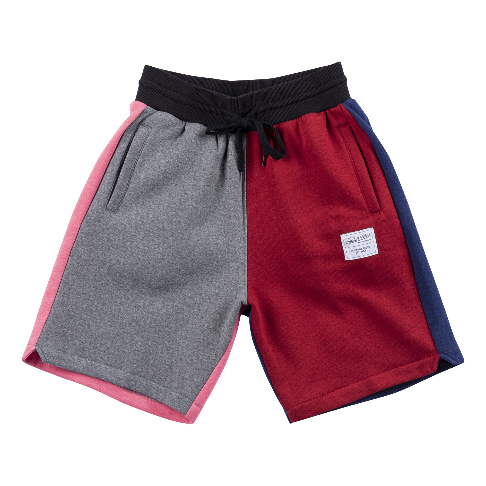 Branded Colorblock Fleece Short Branded - Grå/Rød/Navy/Pink - Mitchell & Ness