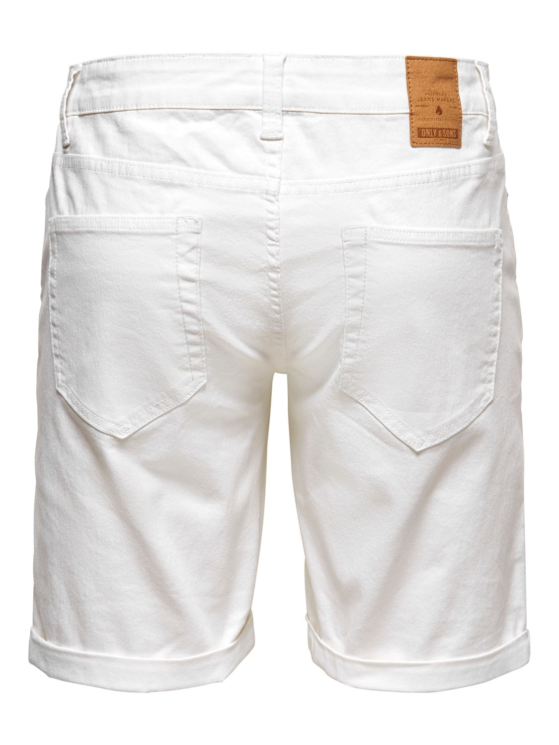 PLY REG LIFE SHORT WHITE PK - Hvid - Only & Sons