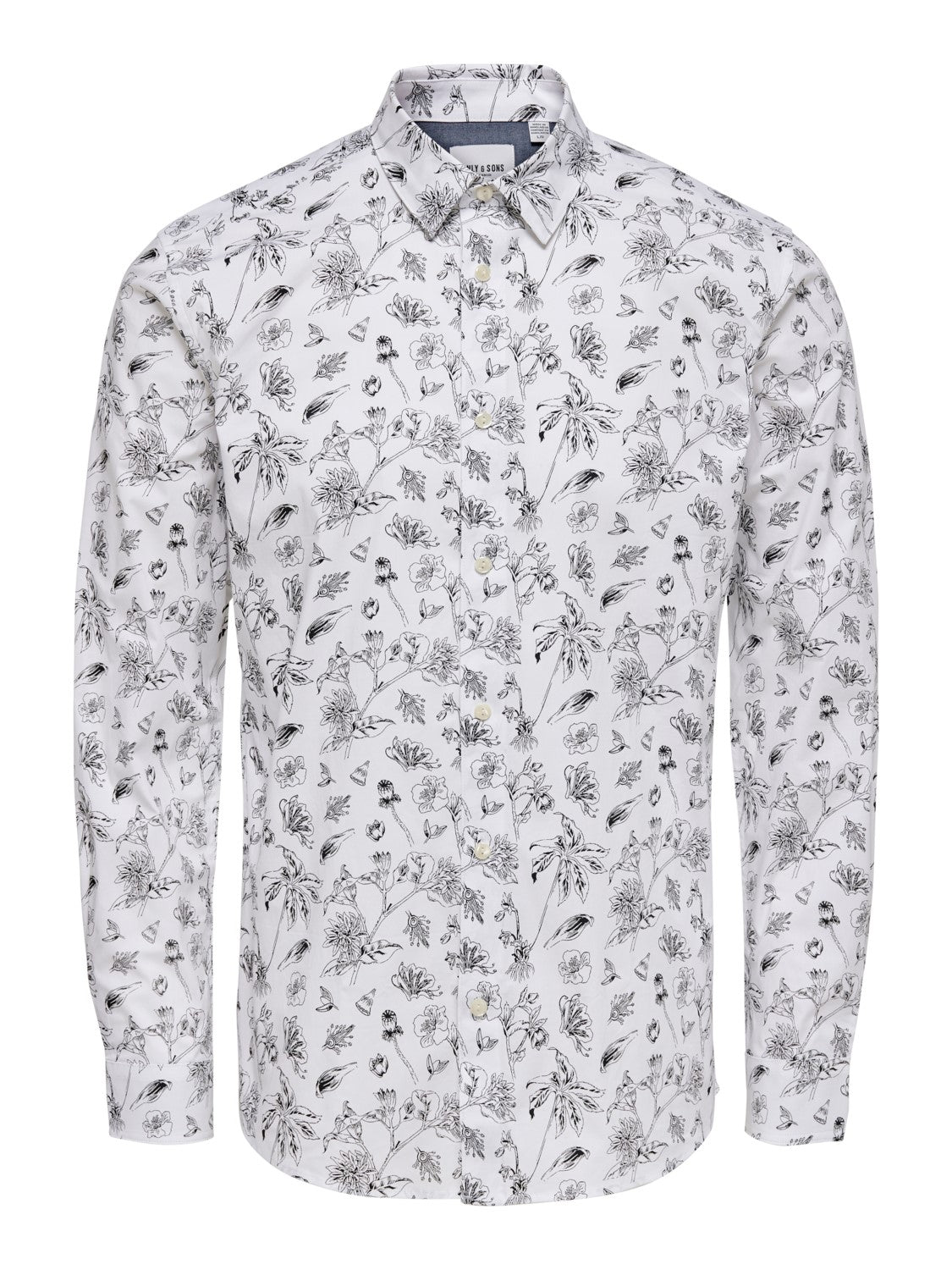 HOGAN LS PRINTED STRETCH SHIRT CONF - Hvid - Only & Sons