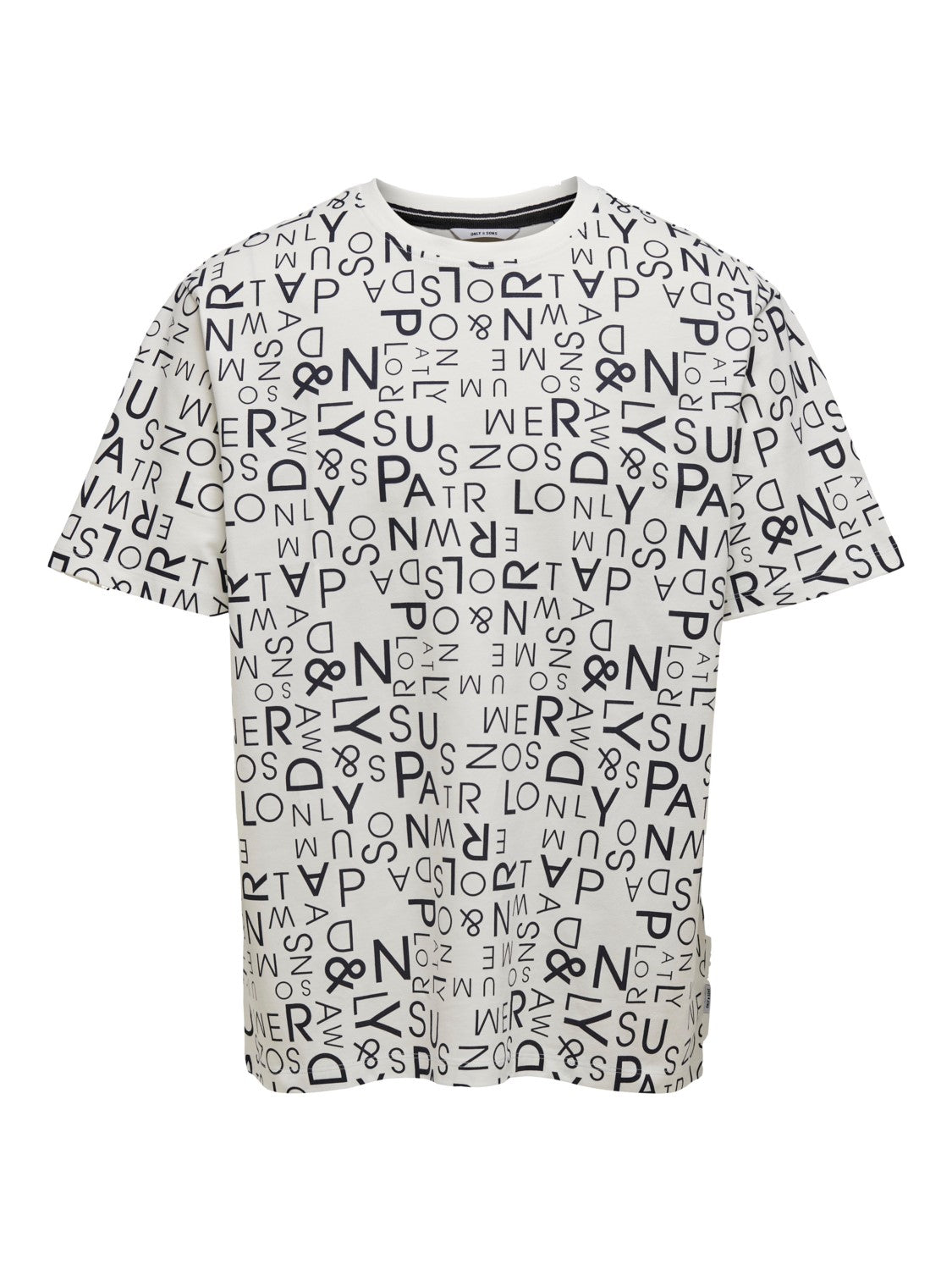 NEIL OVZ SS AOP TEE - White - Only & Sons