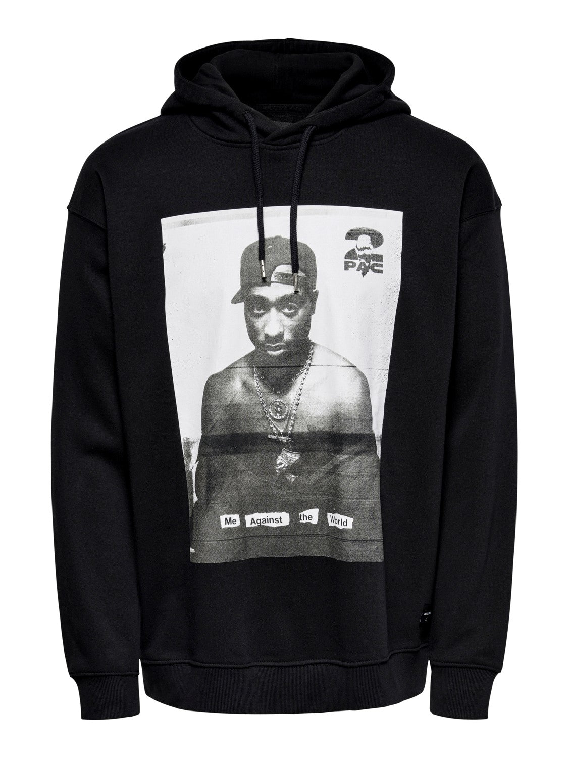 Tupac Life Ovz Sweat Hoodie - Sort - Only & Sons
