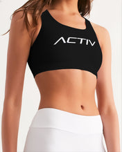 Load image into Gallery viewer, Women's Seamless Activ Sports Bra (Black)