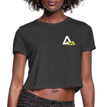 Load image into Gallery viewer, Women's Cropped T-Shirt - deep heather