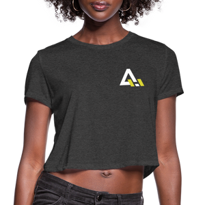 Women's Cropped T-Shirt - deep heather
