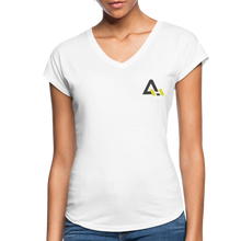 Load image into Gallery viewer, Women's Tri-Blend V-Neck T-Shirt - white
