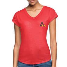 Load image into Gallery viewer, Women's Tri-Blend V-Neck T-Shirt - heather red